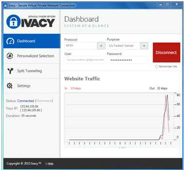 ivacy dashboard