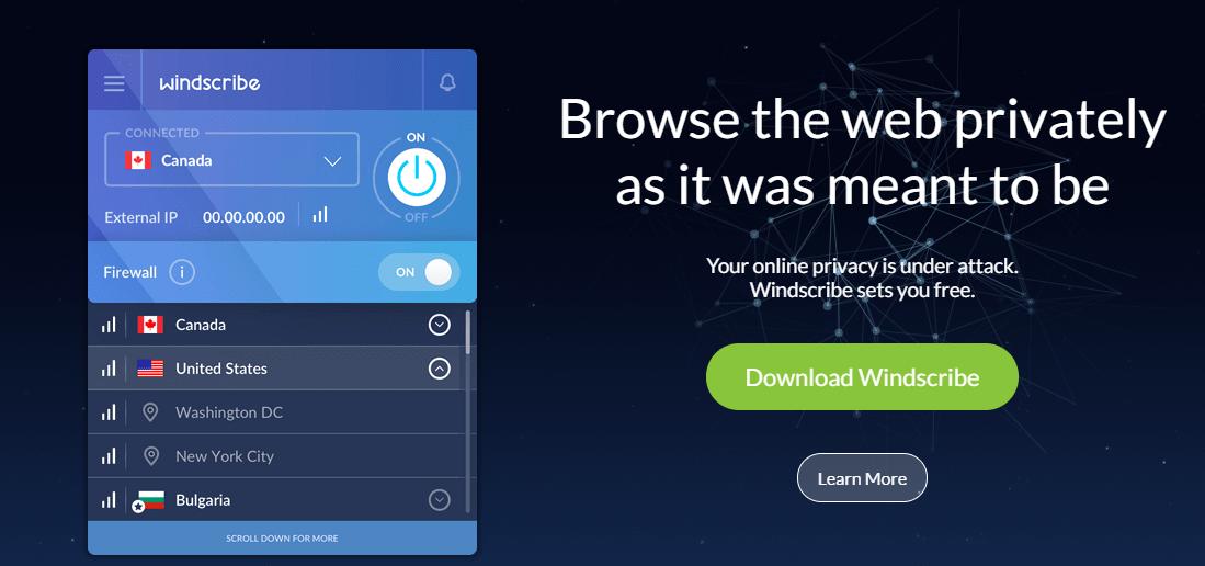 Windscribe - 免费VPN - Kodi - xbmc