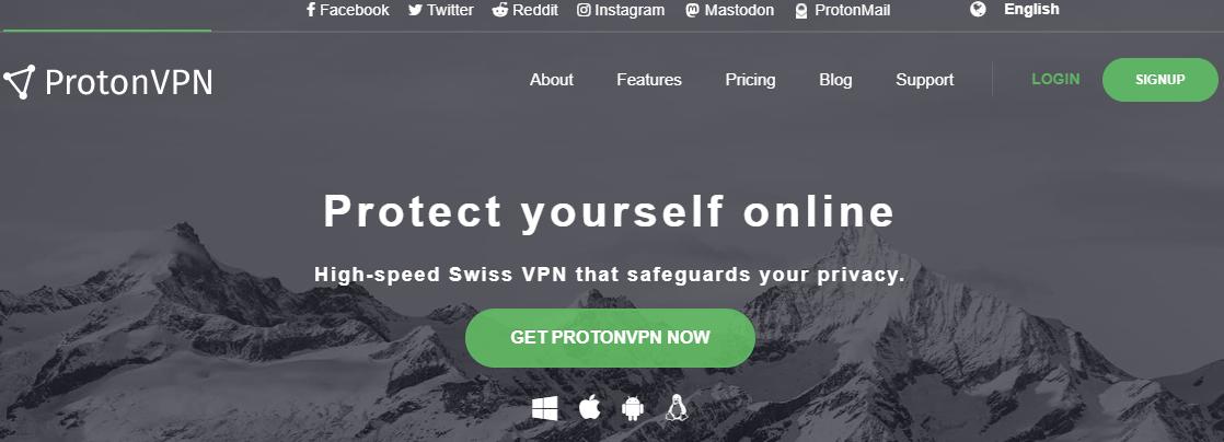 ProtonVPN 官方页面