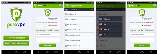 PureVPN Android App