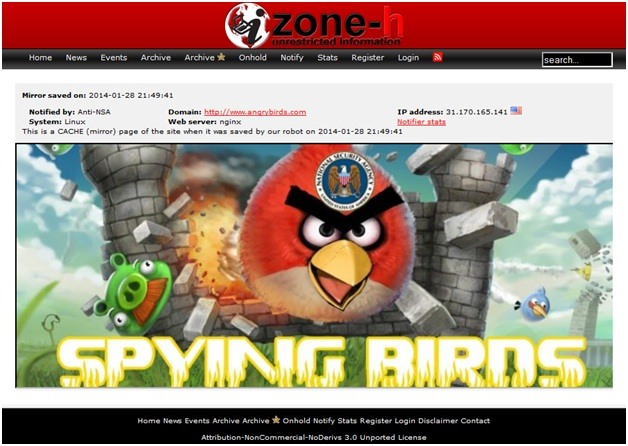 Angry Birds Hacked