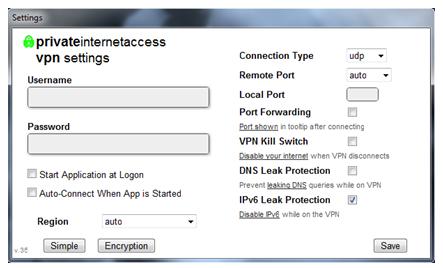 pia IPv6 Leak Protection