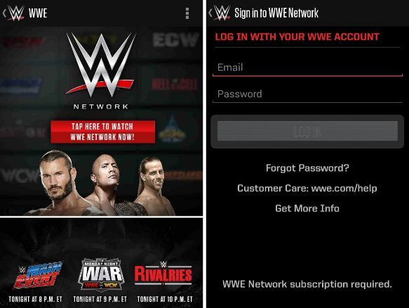 Watch WWE Network on Android