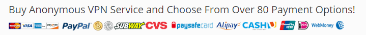 Payment Methods which TorGuard Supported