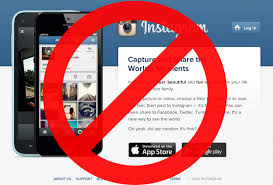instagram blocked