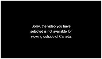 Geo-restrictions to watch CTV Canada
