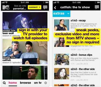 MTV App for iPhone