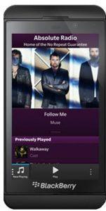 Absolute Radio Blackberry App