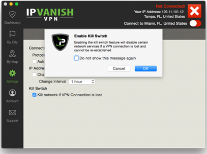 kill switch of IPVanish