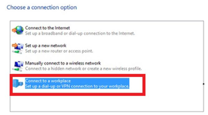 connect vpn windows
