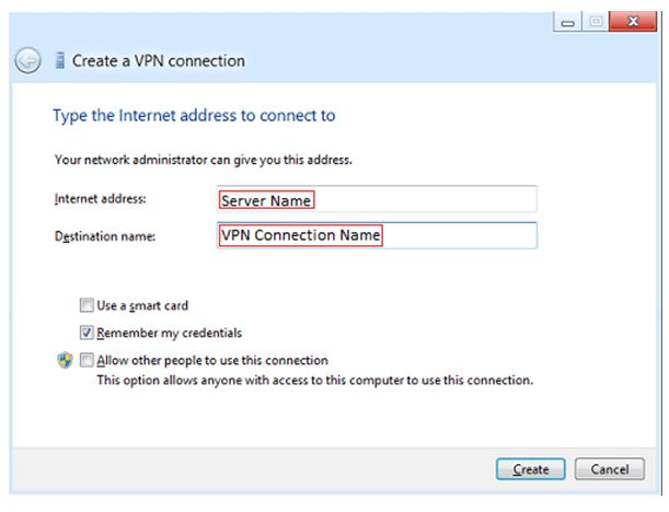 how to create vpn in windows 8.1