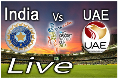 Watch India vs UAE World Cup 2015