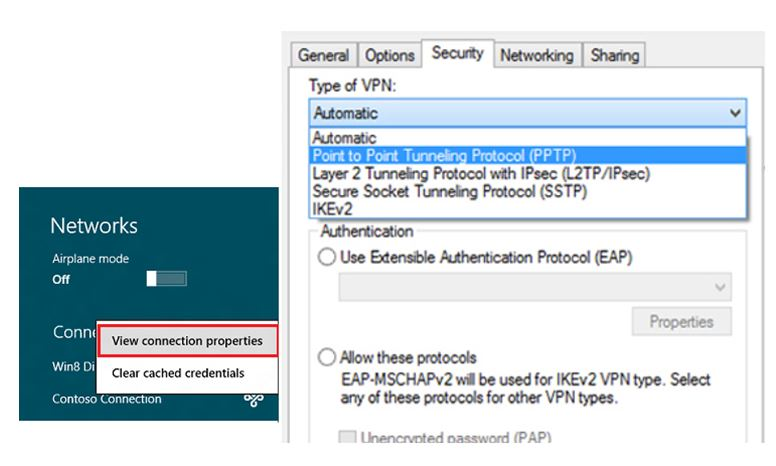 vpn setting for windows 8