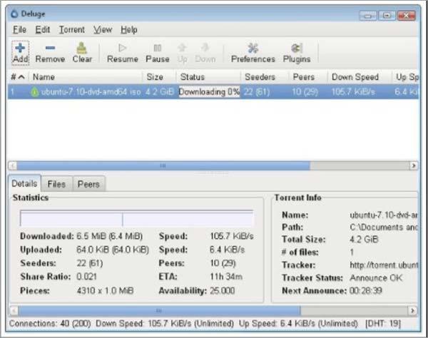 Deluge-Best-BitTorrent-Client-