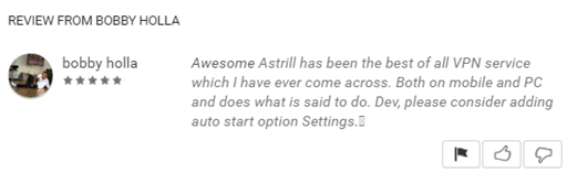 Astrill VPN Reviews on Google Play