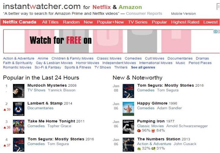 Instant Watcher for Netflix Updates