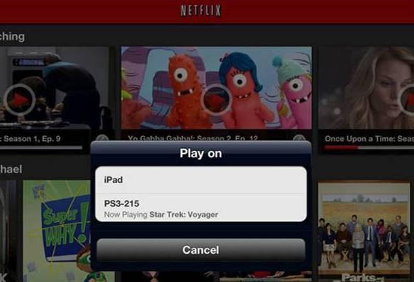 Play Netflix on iPad or PS3