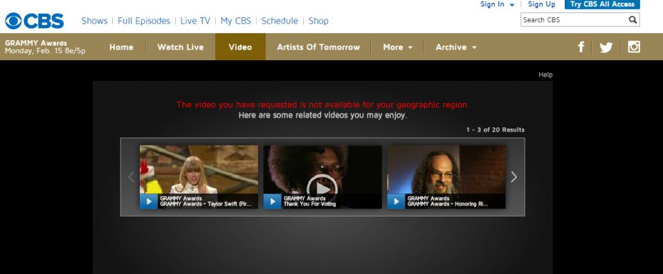 WATCH CBS OUTSIDE USA