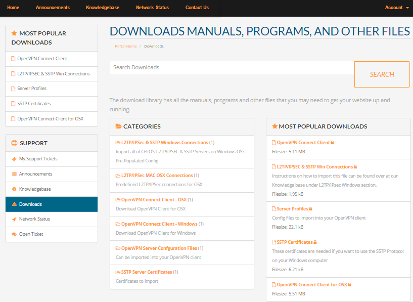 Programs and Manuals Provided by celo vpn