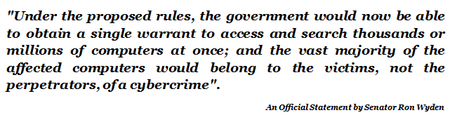Official Statement By Senator Ron Wyden