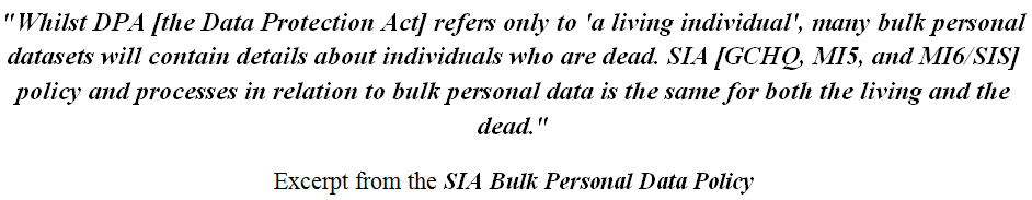 SIA Personal Date Policy