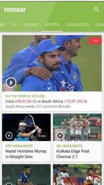 Watch IPL online on HotStar App