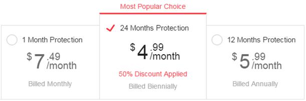 saferweb pricing plan