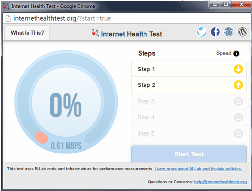 Bypass ISP Throttling - The Internet Health Test Tool helps to Determine