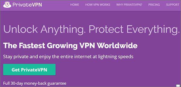 PrivateVPN Best VPN Services