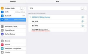 VPN WhatsApp iPhone Setup 1