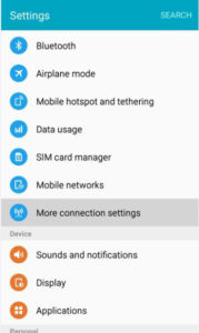 Whatsapp VPN on Android step 1