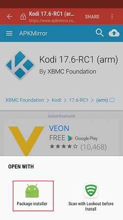 How to install Kodi 17.6 on Android Step 3