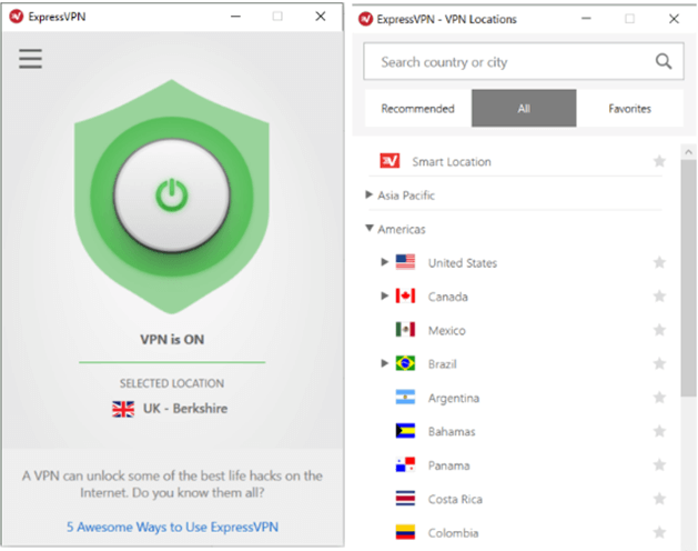 ExpressVPN - Best VPN Software