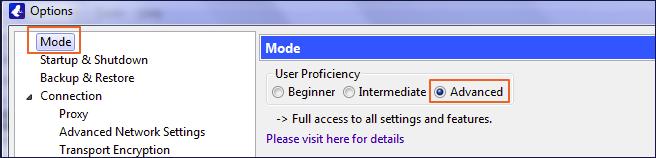 Setup Proxy on Vuze step 1