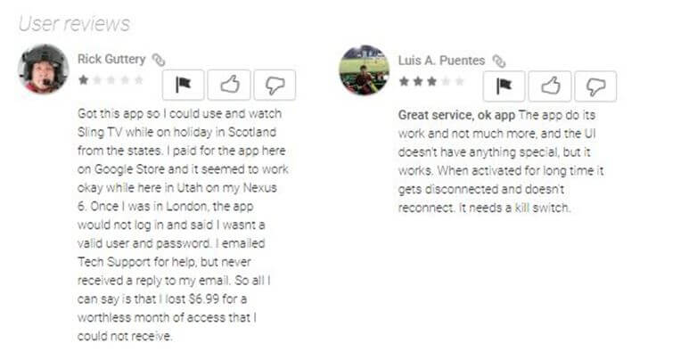 proXPN Android App customer review