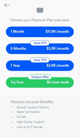 Betternet-Pricing-Plans