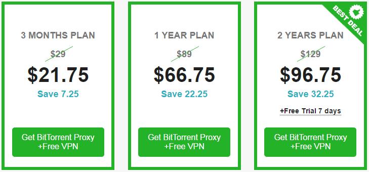 torrentprivacy Pricing Plan