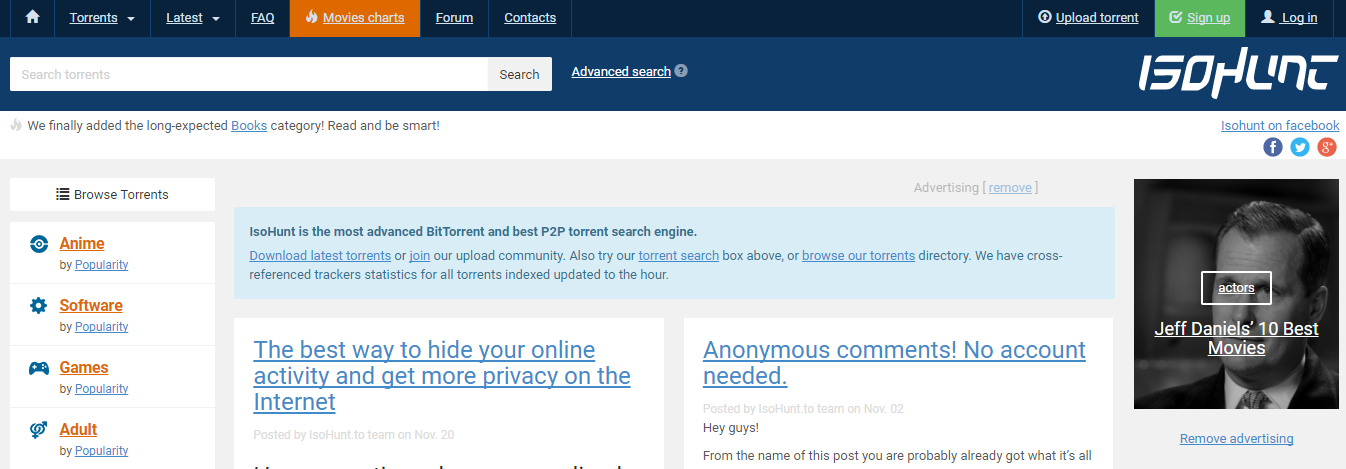 isoHunt the nd extratorrent alternative