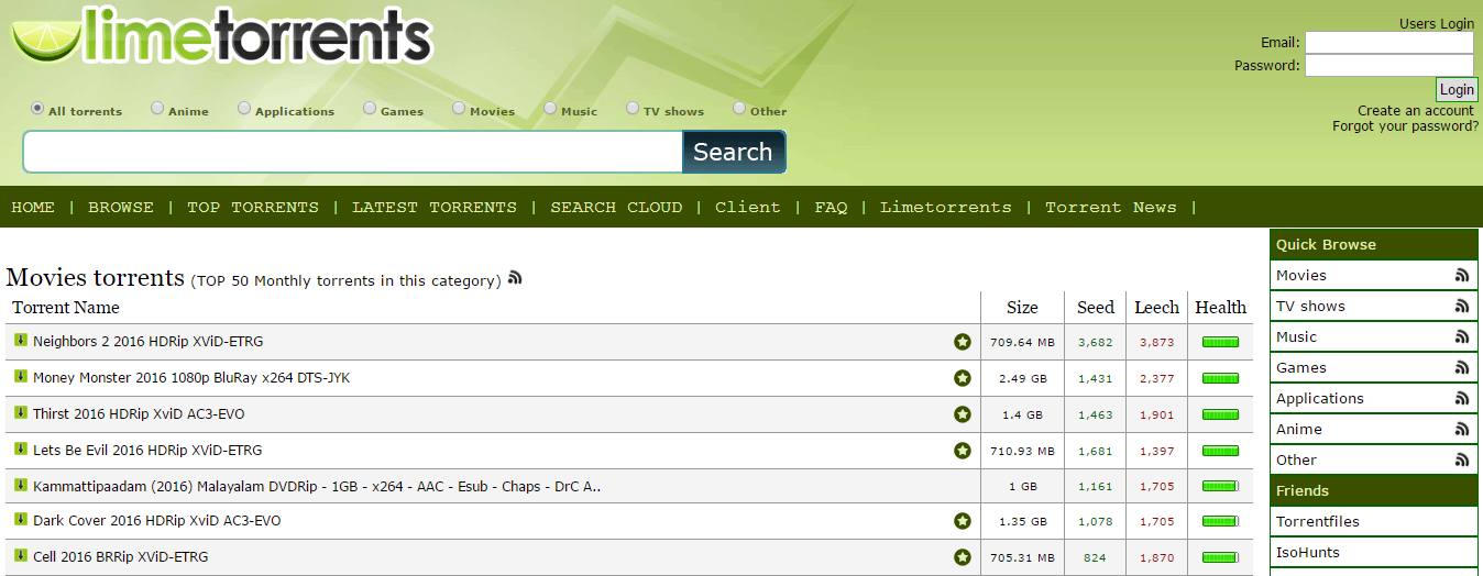 limetorrent another extratorrent alternative