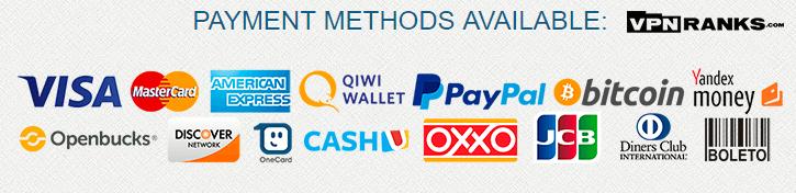 Payment Methods of lee vpn
