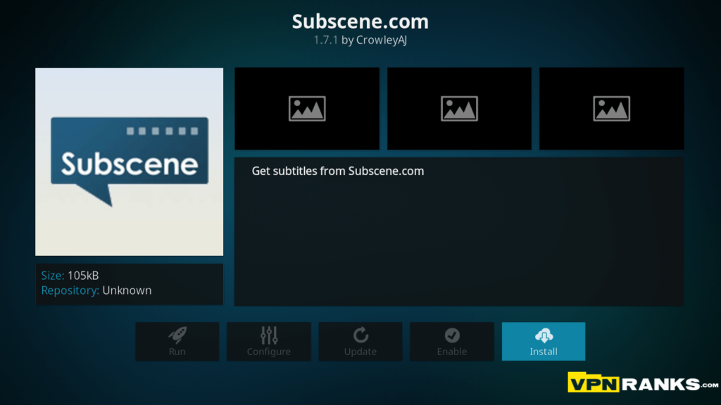 Subtitles issue on Game of Throne on Kodi Resolve Step 2