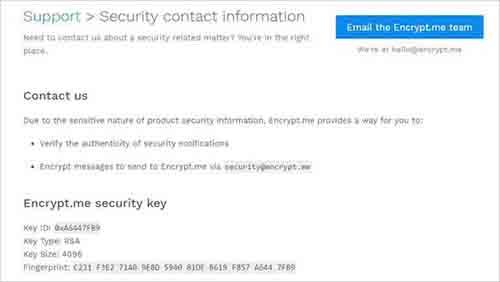 Encypt.me-Security-Key