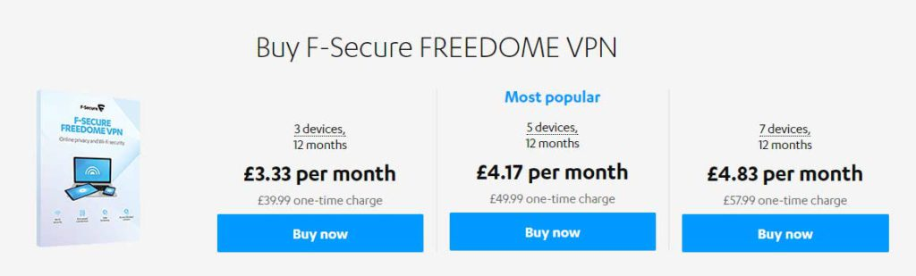 F-Secure-Freedome-Pricing