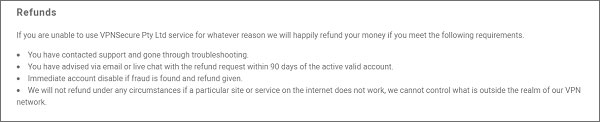 VPNSecure-Refund-Policy