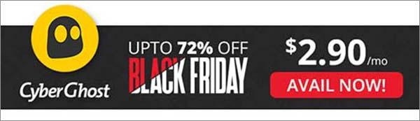 Black Friday VPN Deal of CyberGhost VPN