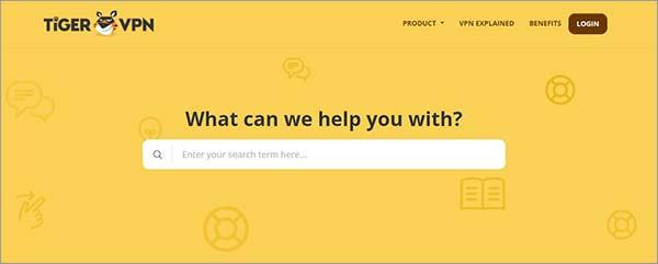 TigerVPN-Customer-Support-Homepage