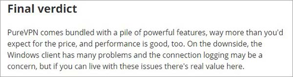 TechRadar-Review-about-PureVPN