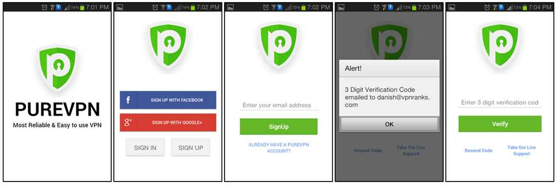 examen-de-l'application-Android-PureVPN