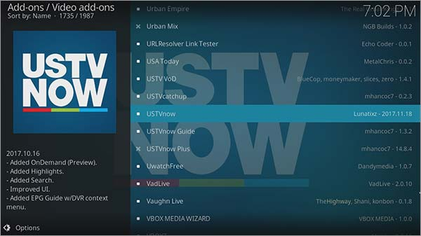How to Install USTV Now on Kodi