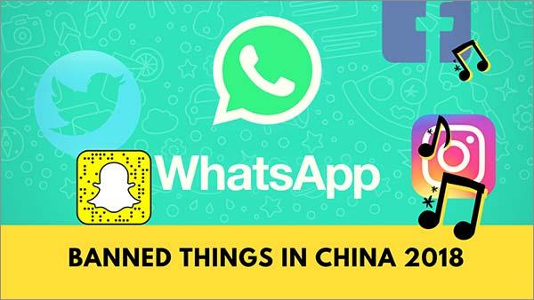 2018年在中国禁止的东西